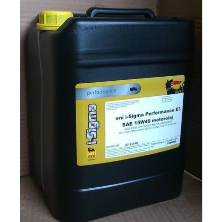 Eni i-Sigma Performance E3 15W40 10 liter