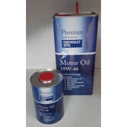 * Original GM Motor Oil 6720 10W40 5 liter (fém)