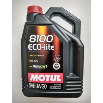 Motul 8100 Eco-lite 0W20 5 liter