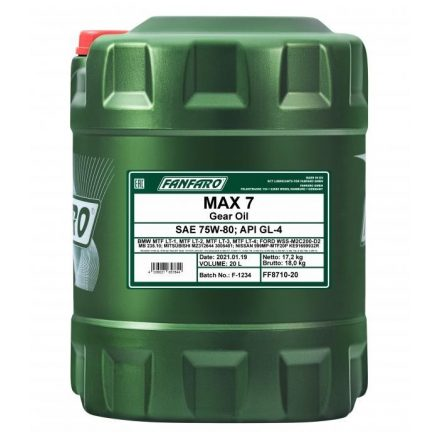* Fanfaro Max 7 75W80 8710 20 liter